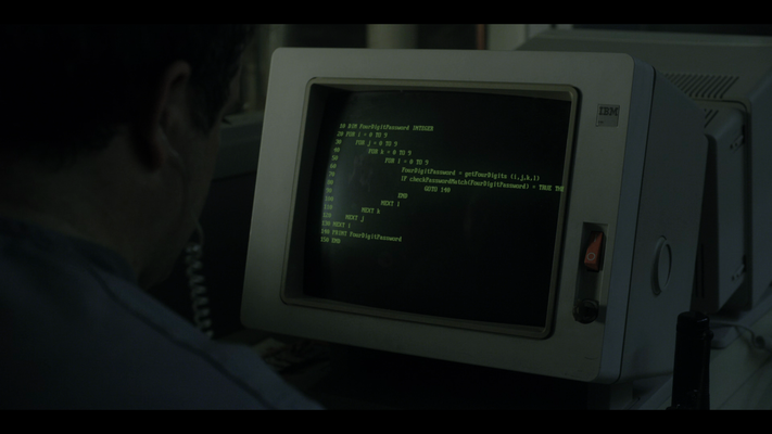 Stranger Things BASIC code on a computer screen